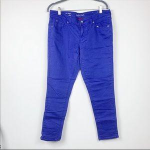 Target Merona ankle skinny pants size 10 Blue